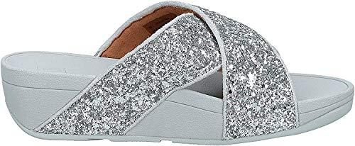 Fitflop Damen Lulu Glitter Slides Sandalen, Silver (Silver 011), 39 EU