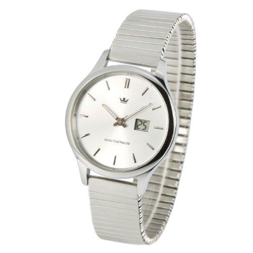 Elegante MARQUIS Damen Funkuhr (Junghans-Uhrwerk) Gehäuse und Armband aus Edelstahl 964.4005