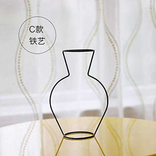 deend glazen vaas zwart ijzeren driedimensionale glazen vazen droogbloem bloem interieur vaas