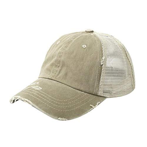 Golfpet Paardenstaart Unisex katoenen eend Tong Baseballpet Verstelbare zonnescherm Mesh zonnehoed Sportkleding Accessoire, 7
