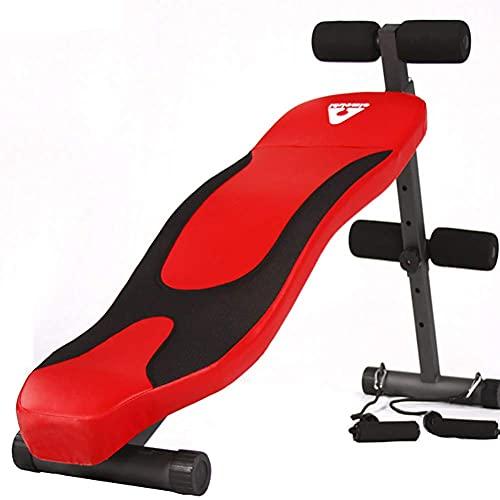 YAJIAN Tablero supino tipo S, banco de entrenamiento muscular abdominal, uso de ergonomía Multifunción Equipo de acondicionamiento físico ajustable Gimnasio para dispositivos de ejercicio de cuerpo co