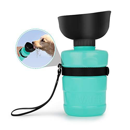 AVNICUD Hundetrinkflasche für unterwegs, 520ml Hunde Wasserflasche, BPA-frei, Tragbare Haustier Trinkflasche für Haustiere Unterwegs, Spaziergang, Reise und Wandern