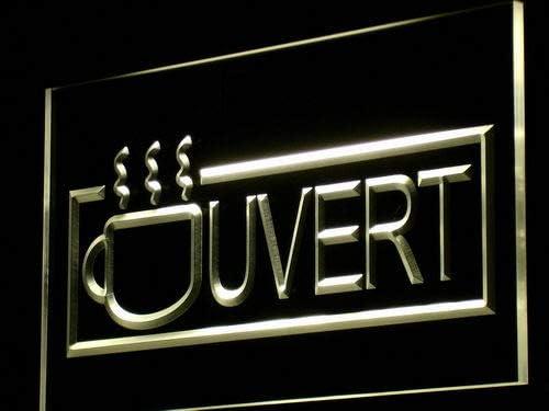 ADVPRO Ouvert Coffee Cafe Enseigne LED Sign Neon Yello Lumineuse Tulsa Mall Max 62% OFF
