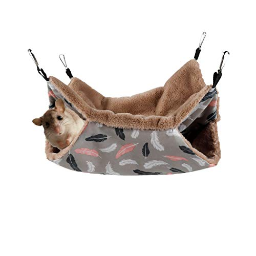 STTQYB Small Pet Cage Hammock, Hanging Bed for Small Animals Pet Cage Hammock Accessories Bedding for Chinchilla Parrot Sugar Glider Ferrets Rat Hamster Rat...