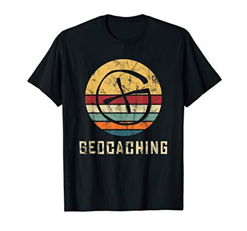 Geocaching Geocacher Geocache GPS Outfit Vintage Retro T-Shirt