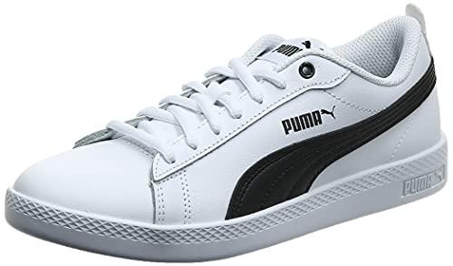 PUMA Smash Wns v2 L, Zapatillas Bajas Mujer, Blanco (White/Black), 41 EU