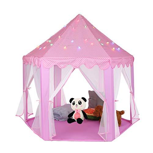 Tienda de campaña de Encaje para niños Princess Castle Tienda de campaña portátil para...