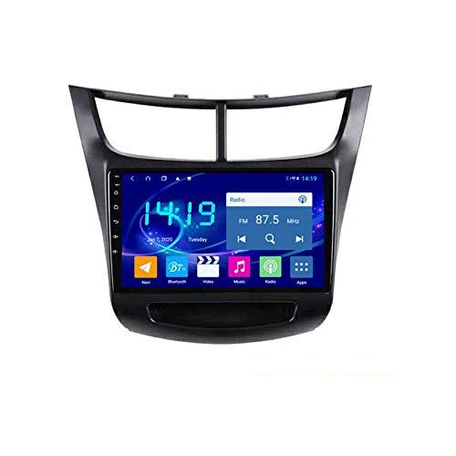 Coche Radio Video Estéreo Para Chevrolet Sail 2015-2018 Unidad Cabeza Auto Multimedia Player SAT NAV FM Receptor 1080P Pantalla Táctil Foreado GPS Wifi Bluetooth Mirrorlink USB,4 core 4g+wifi: 2+32gb