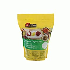 Preserve lifetime memories and capture nature's transient beauty of flowers with ACTIVA Silica Gel flower drying compound Specially designed with a very fine consistency, it will absorb moisture without damaging flowers, altering the colors or changi...