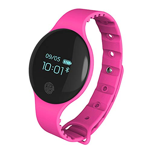 Mode Smarte Uhren, Allskid Unisex Teenager Jungs Mädchen Bluetooth Schrittzähler Elektronisch Uhren Smartwatches (37 * 6mm, Hot Pink)