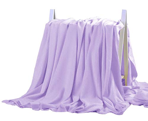 DANGTOP Cooling Blankets, Cooling Summer Blanket for Hot Sleepers, Ultra-Cool Cold Lightweight Light Thin Bamboo Blanket for Summer Night Sweats (79x91 inches, Purple)