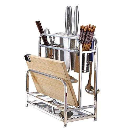 Küchenregal,einfaches Rostfrei Stahl Schneidebrettablage,Messerhalter für Mehrzweck-Werkzeughalter