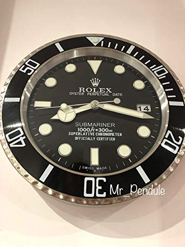 Wallclock, Wall Clock, Submariner schwarz