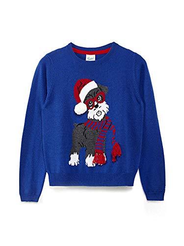 Yumi Girl Snowy Dog Christmas Jumper