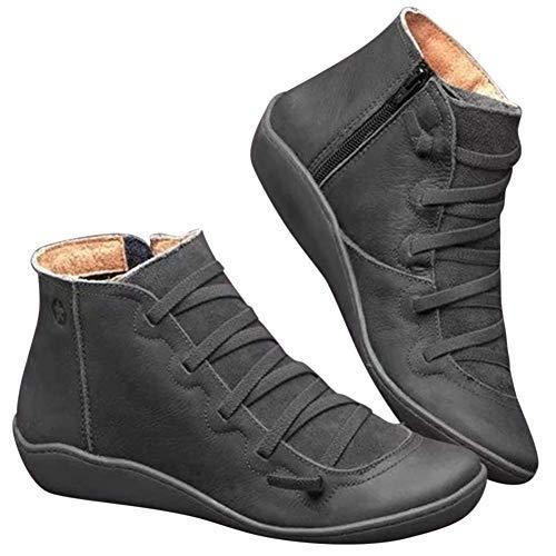 Covok lage rubberlaarzen, zachte laarzen, dames grijze laarzen, dames laarzen met lage hak, laarzen 40, vintage snooien, comfortabele laarzen 41 EU grijs.