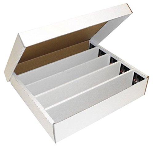 BCW Super Monster, 5filas, de cartón corrugado caja de almacenaje para deportes/tarjetas de cartas coleccionables (capacidad para 5000)