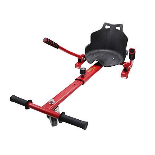 Hiboy 8435518000358 Asiento, Silla de Hoverboard Self Balancing Compatible con Todos los Patinetes Eléctricos de 6.5, 8 y 10 Pulgadas, Niños, Kart Rojo