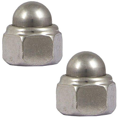 OPIOL QUALITY | Hutmuttern M8 selbstsichernd DIN 986 Edelstahl A2 (4 Stück) | Sechskant-Hutmutter | Sicherungsmutter | Muttern | Stopmuttern