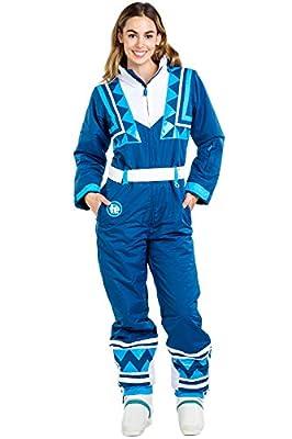 Women's Blue Bomber Retro Ski Suit - Vintage Inspired Ski Suit: S from Tipsy Elves