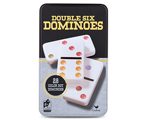 Cardinal Games  Traditions: Double Six Color Dot Dominoes