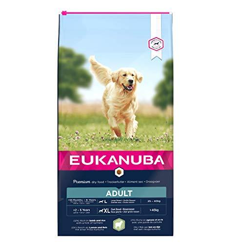 Eukanuba, Cibo Secco per Cani Adulti, Alimento Completo per Taglia Grande, 1-6 Anni, Crocchette Cani con Agnello e Riso, 12 Kg