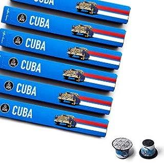 Nespresso Compatible Capsules - Espresso Pods for your Nespresso Machine - CUBA, Nespresso Original Coffee Pods, 10-Count Sleeves, (60 Capsules)
