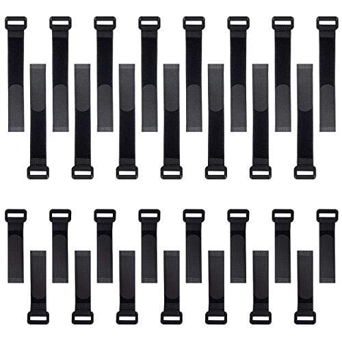 30 Pcs Correas De Velcro Autoadhesivo Nylon Reutilizable Correa de Cable Para Organizador Almacenamiento