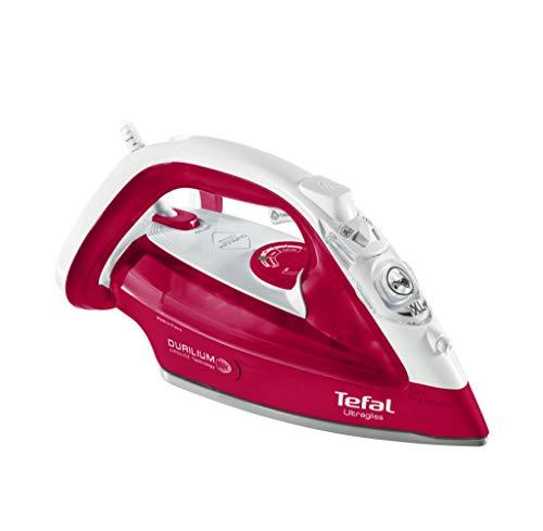 Tefal UltraGliss FV4950 - Plancha (Plancha a vapor, Suela de Durilium, 2 m, 160 g/min, Rojo, Blanco, 40 g/min)