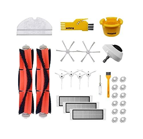 Piezas De Vacío Robot De Reemplazo Piezas De Aspiradora Ajuste FIT For Xiaomi MI ROBOROCK Cepillo De Rodillos HEPA Filtro De Ruedas Kits De Reemplazo De Pinceles Laterales Kit De Accesorios