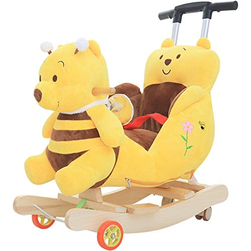 Best Deals! Rocking horse ZJING Children's Early Education Trojan Children's Baby Rocking Chair Baby...