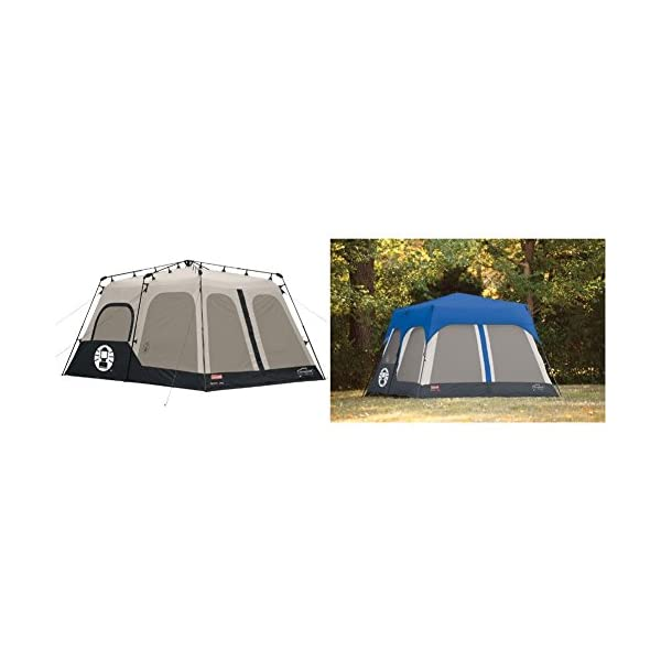 Coleman-Instant-8-Person-Tent-Black-14×10-Feet-w-Coleman-Accy-Rainfly-Instant-8-Person-Tent-Accessory-Blue-14×10-Feet