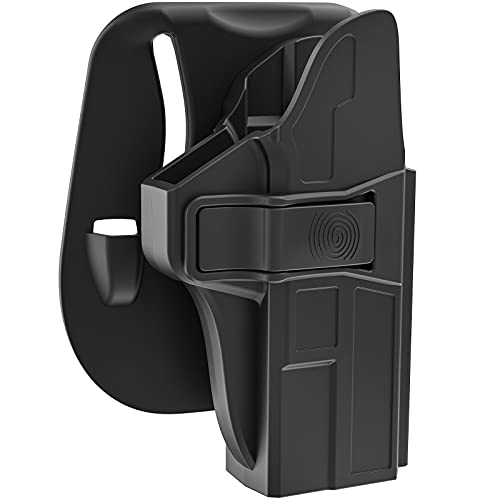 Paddle Holster for M&P Shield 9mm EZ, Right-Handed OWB Holster for S&W M&P Shield 9mm/.380 EZ M2.0 Gun , 60° Adjustable Level Ⅱ Retention Belt Pistol Holsters with Quick Release Button, Open Carry