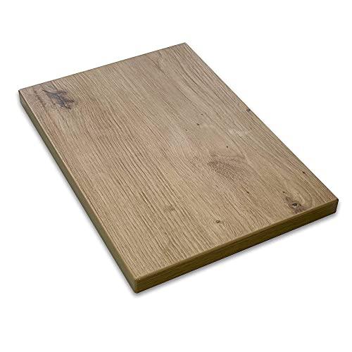 vabo Schreibtisch-Platte mit hoher Kratzfestigkeit in Eiche, Tischplatte bis zu 120kg belastbar, moderner Büro-Tisch mit Laserkante, 140x80x2,5cm