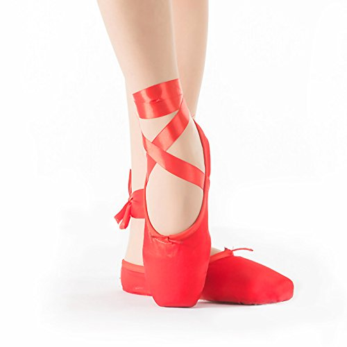 Red Ballet Shoe Leather Sole