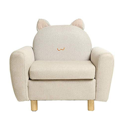 N&O Renovation House High Back Bean Bag Chair Mini Cute Children's Sofa Chair Single Small Sofa Reading Chair Cushioned Suitable for Preschool Children Indoor and Outdoor Use (Color : White Size :