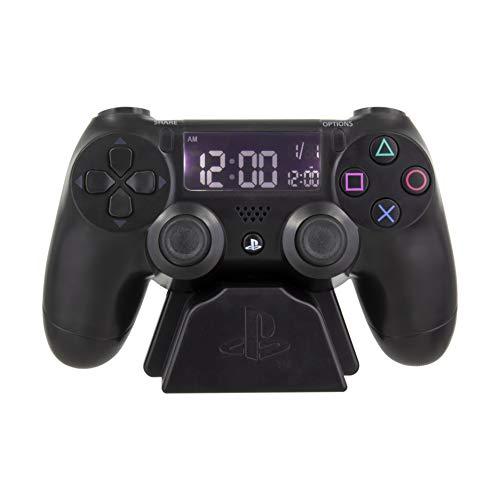 Paladone Playstation Digital Wecker | USB Reverse LCD mit Hintergrundbeleuchtung | Klassisches...