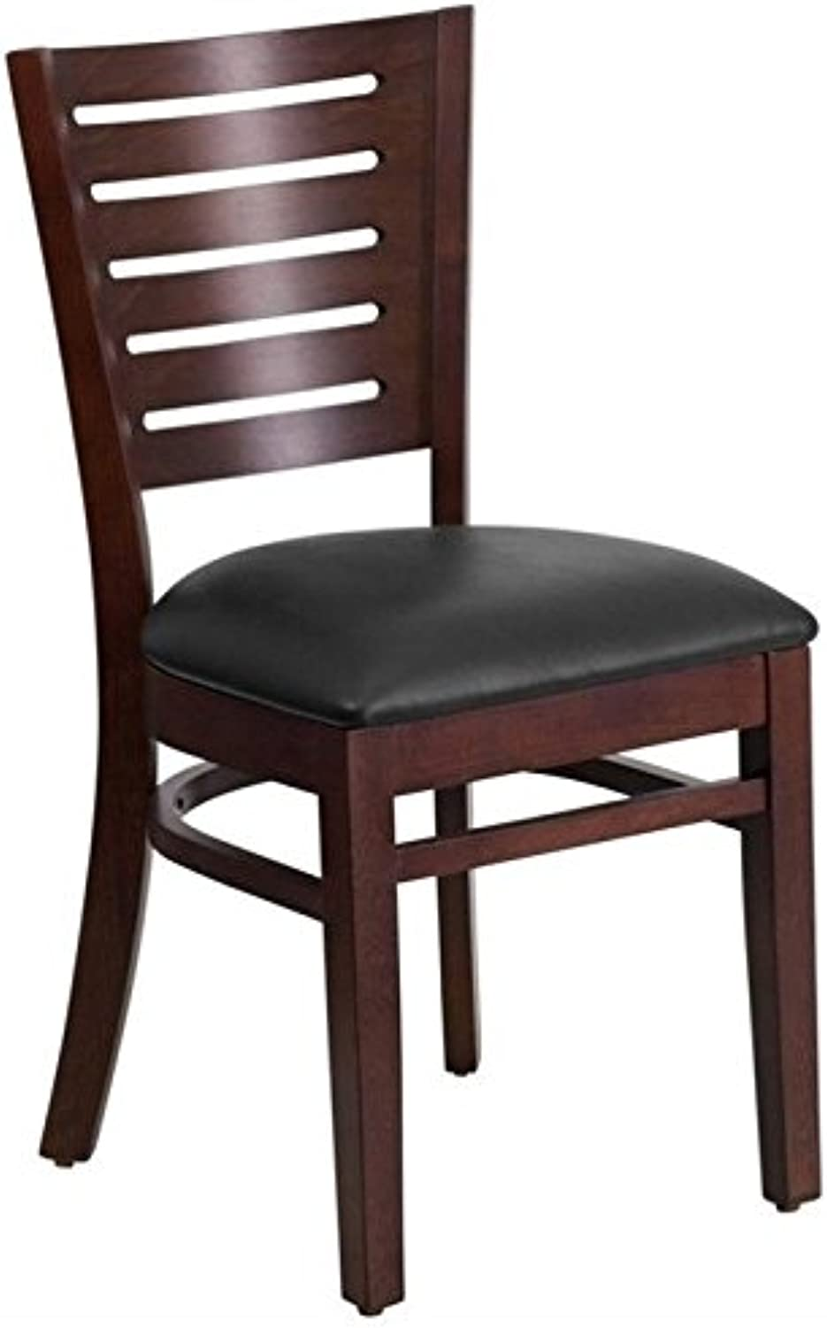 Scranton & Co Upholstered Restaurant Dining Chair in Walnut and Black