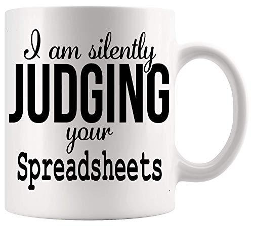 Taza de contable Taza de contable Hojas de cálculo divertidas para juzgar Humor Contabilidad Contabilidad Contador Camisa de regalo Tazas de 11 oz Tazas