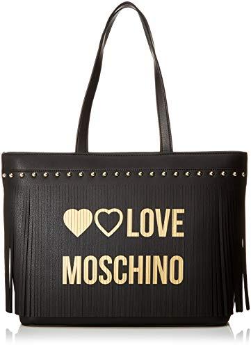 Love Moschino Pu, Borsa Tote Donna, Nero (Nero), 30x12x43 cm (W x H x L)