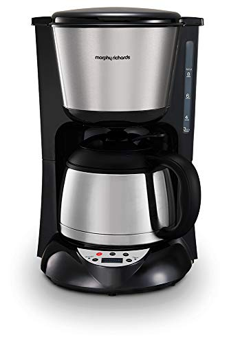 Morphy Richards 162772EE filter koffiezetapparaat met timer en thermoskan Geborsteld - thermoskan.
