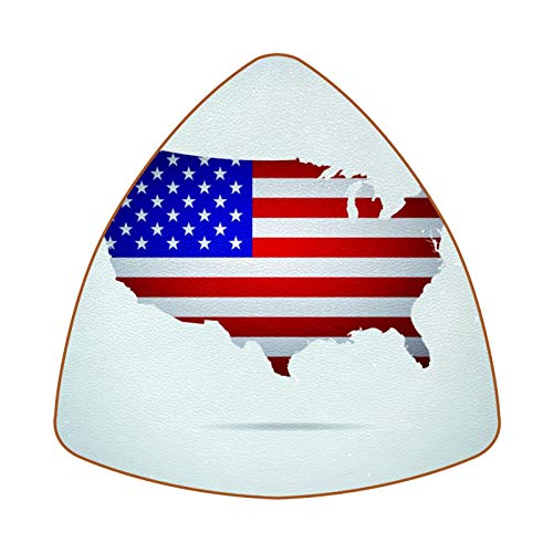Posavasos triangulares para bebidas, diseño de mapa de la bandera de Estados Unidos para proteger muebles, resistente al calor, decoración de bar de cocina, juego de 6