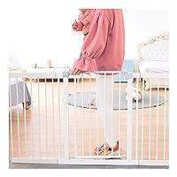 ベビーゲート 拡張ベビーセーフティゲートバーウォークスルー暖炉用階段庭手すり自己閉鎖アンチペット犬ガードレール無料パンチング屋内隔離フェンス (Color : White, Size : 152-159cm)