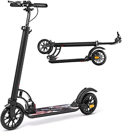 besrey Trottinette Pliable pour Adultes, Patinette avec Frein à Main et Grandes Roues de 200mm pour Adolescents, City Scooter Kick Scooter