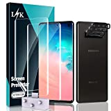 LϟK 2 + 3 Pezzi per Samsung Galaxy S10, 2 Pezzi TPU Pellicola Protettiva + 3 Pezzi Vetro Temperato Fotocamera Posteriore Pellicola, Senza Bolle Support Fingerprint ID HD Salvaschermo