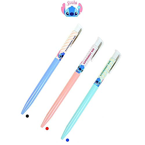 Lilo and Stitch 0.38mm Ballpoint Pen (Red, Black, Blue) : Set of 3
