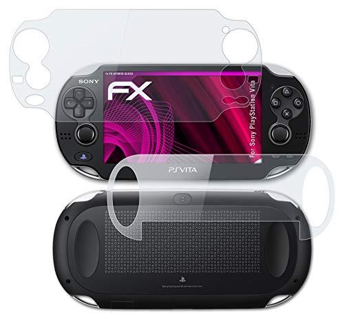atFoliX Lámina Protectora de plástico Cristal compatible con Sony PlayStation Vita Película Vidrio, 9H Hybrid-Glass FX Protector Pantalla Vidrio templado de plástico (Set de 1)