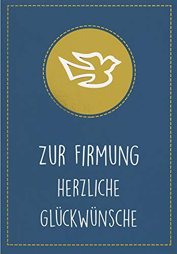 Karte zur Firmung Lifestyle - Textkarte mit Tauben - 11,6 x 16,6 cm