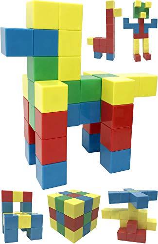 Intock Magnetic Building Blocks, 40 Pieces Set, 40 Pcs Magnetic Cube Building Toys