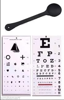 EMI OCC-WSK 3 piece set - Occluder Plus Snellen AND Kindergarten/Children Plastic Eye Vision Exam Test Wall Charts 22 by 11 in.