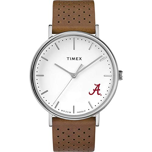 Timex Womens Alabama Crimson Tide Bama Watch Bright Whites Leather